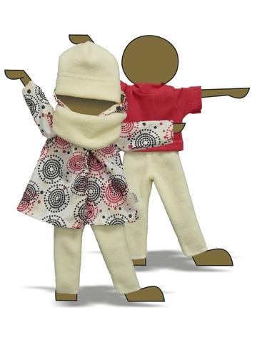 Комплект с плащем - Демонстрационный образец. Одежда для кукол, пупсов и мягких игрушек.