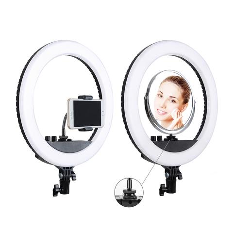 Кольцевая селфи-лампа  держателем для смартфона на штативе, диаметр - 36 см