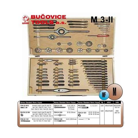 Набор метчиков и плашек MF4-MF14 64пр 115CrV3 Bucovice(CzTool) 310141 (В)