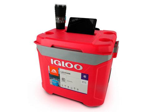 Изотермический контейнер (термобокс) Igloo Latitude 60 Roller (56 л.), красный