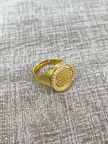 Кольцо Раджи, позолота