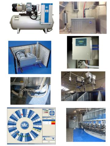 внешняя | Часть доильного зала Карусель для коз: монитор, подача корма, компрессор, вакуумный насос, автомат промывки.