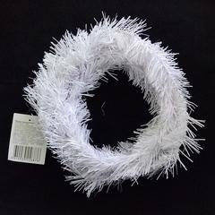 Мишура хвойная Белая, 5,4 м * 8 см.