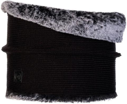 Модный шарф-труба Buff Neckwarmer Knitted Comfort Kesha Black фото 1