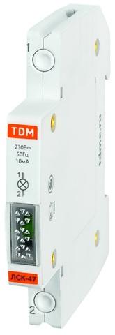 Лампа сигнальная компактная ЛСК-47 зеленая (LED) AC/DC TDM