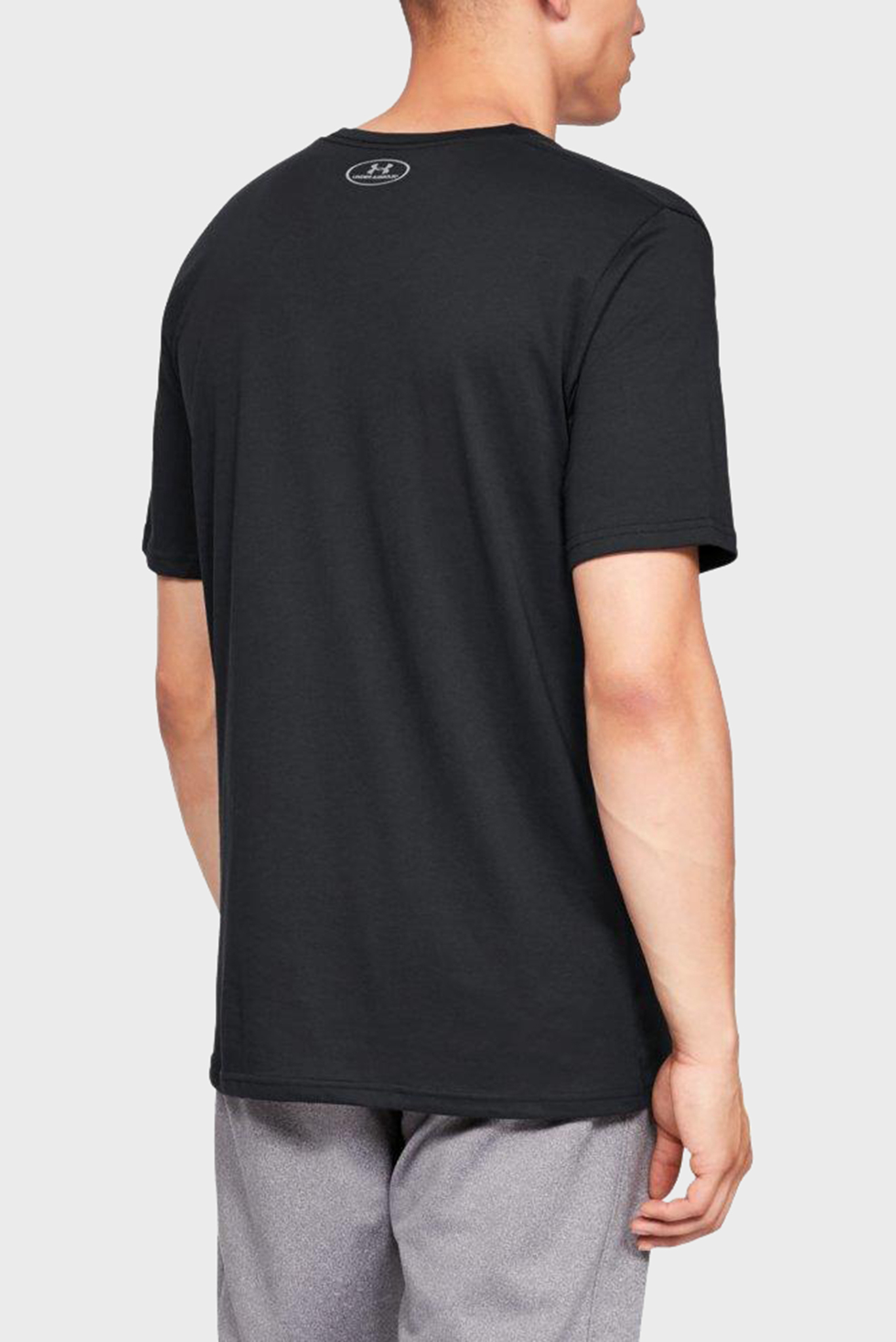 Мужская черная футболка SPORTSTYLE LEFT CHEST SS Under Armour