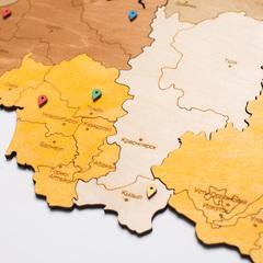 Карта России из дерева Color фото 4