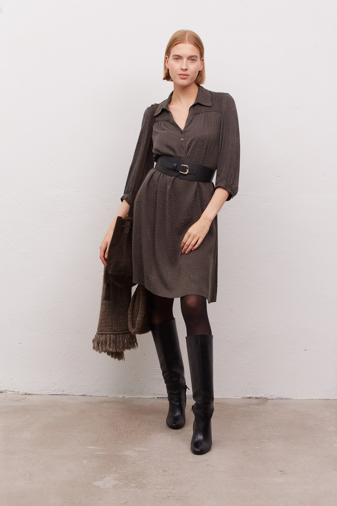 JANELLE - Платье с принтом тон в тон