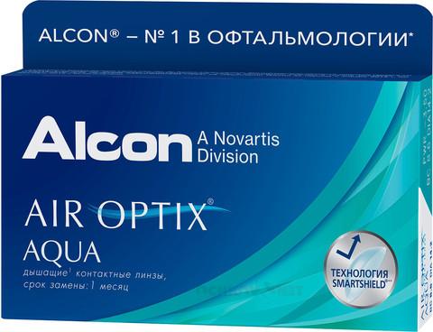 Air Optix Aqua 3 линзы BC 8.6