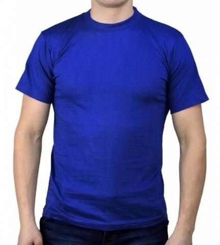 Футболка трикотажная синяя