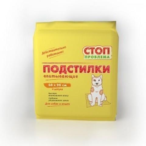 Пеленка СТОП-ПРОБЛЕМА 60*90 см 4 шт