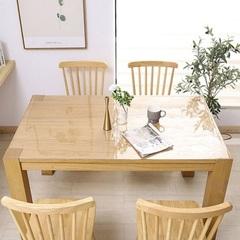 Скатерть мягкое стекло на кухонном столе