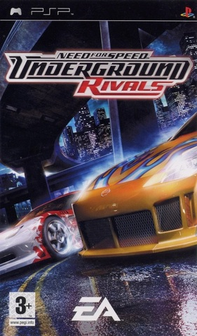 Need For Speed: Underground Rivals (PSP, английская версия, б/у)