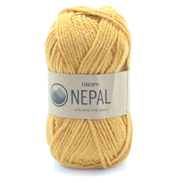 Пряжа Drops Nepal 2923 горчица