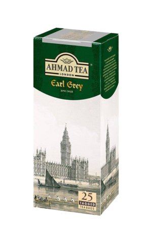Чай черный Ahmad tea Earl grey в пакетиках, 25 шт
