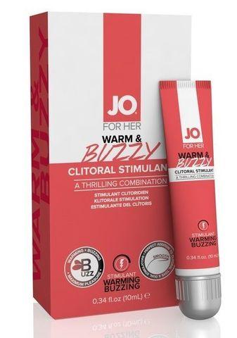 Клиторальный крем JO WARM   BUZZY - 10 мл.