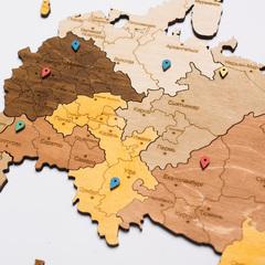Карта России из дерева Color фото 5