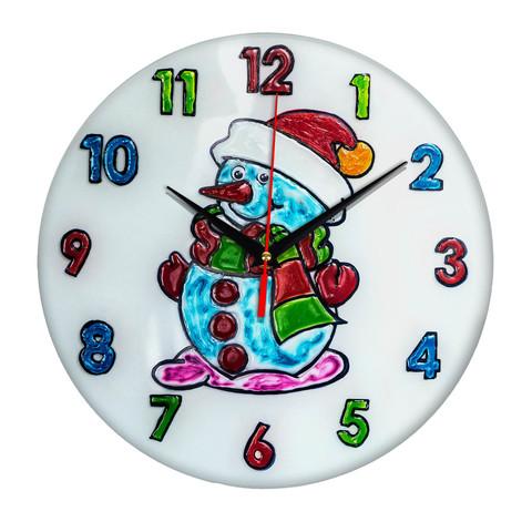 Часы раскраска на стекле для детей