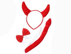 Комплект карнавальный, Чёрт красный, 3 предмета, 1 уп.