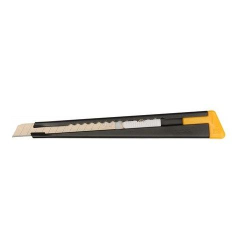 Нож OLFA с выдвижным лезвием, черный, 9мм