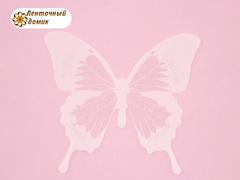 Бабочки  из декоративной пленки белые № 0