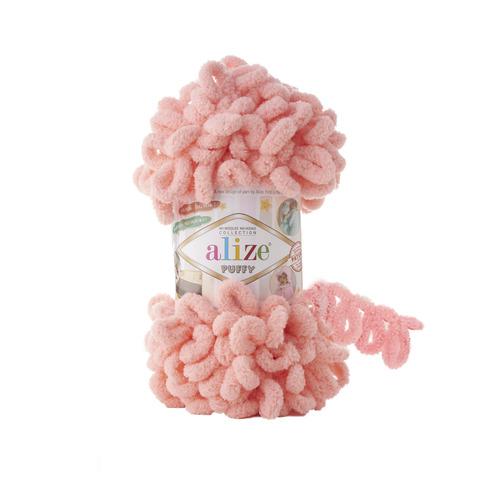 Купить Пряжа Alize Puffy Код цвета 529 Лосось | Интернет-магазин пряжи «Пряха»