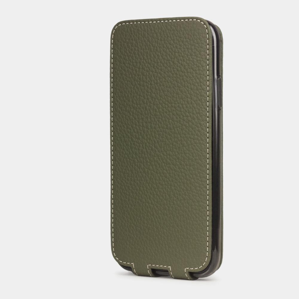 Чехол для iPhone 11 из натуральной кожи теленка, зеленого цвета
