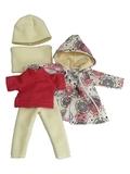 Комплект с плащем - Кремовый. Одежда для кукол, пупсов и мягких игрушек.