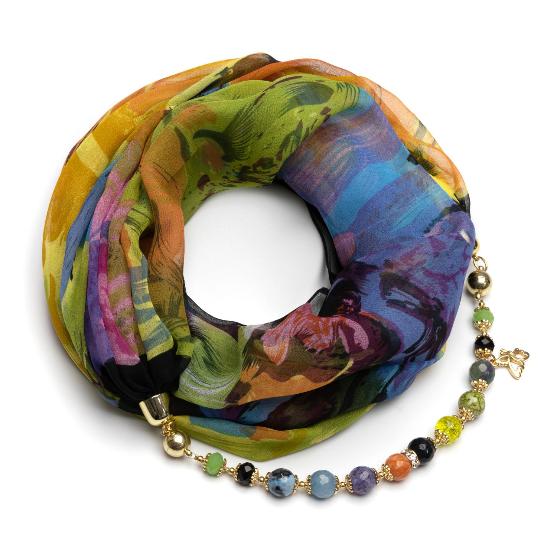 Шелковый платок ожерелье