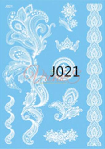 Флеш тату / Flash Tattoo белые №JO21 купить за 200руб
