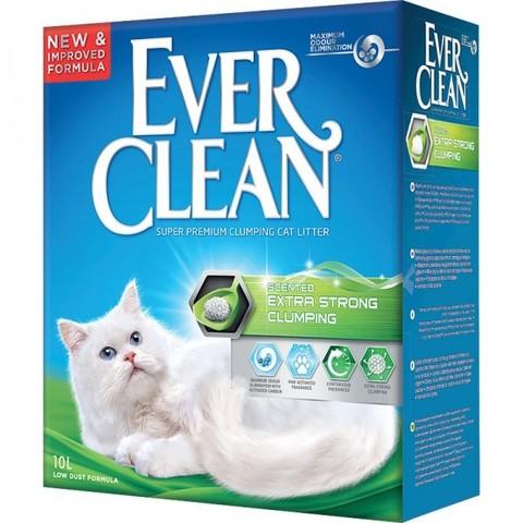 EVER CLEAN Комкующийся наполнитель с ароматизатором (зеленая полоса) Extra Strength Scented