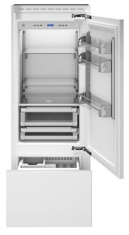 Встраиваемый двухкамерный холодильник Bertazzoni REF75PRR