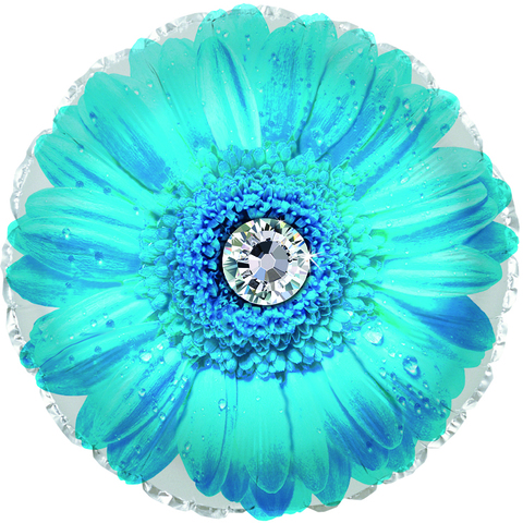 Фольгированный шар Гербера голубой