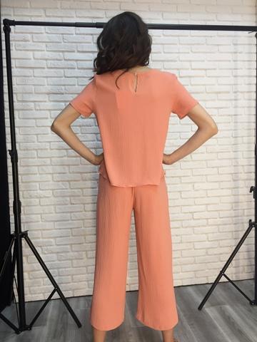 Костюм женский брючный оранжевый интернет магазин