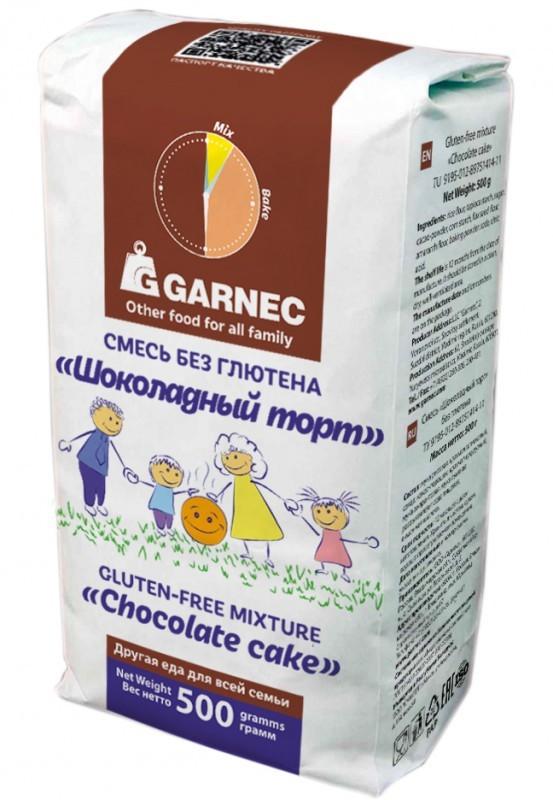 Смесь Гарнец Шоколадный торт б/глютен 500г