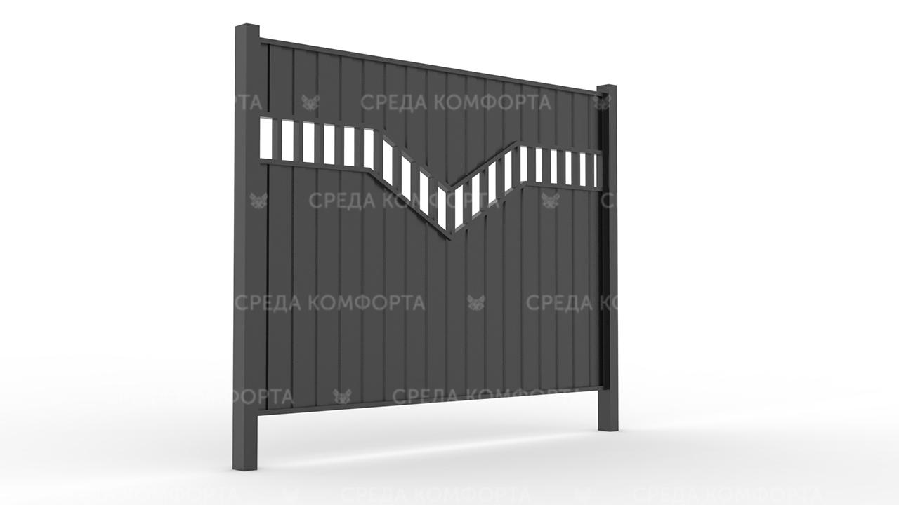 Забор из профлиста ZBR0040