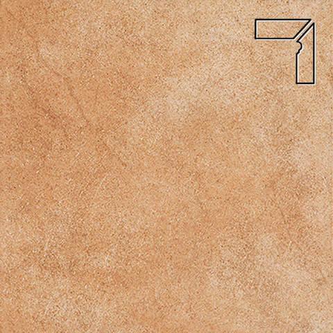Interbau - Nature Art, Gold braun/Золотисто-коричневый, цвет 113 - Клинкерный плинтус ступени правый