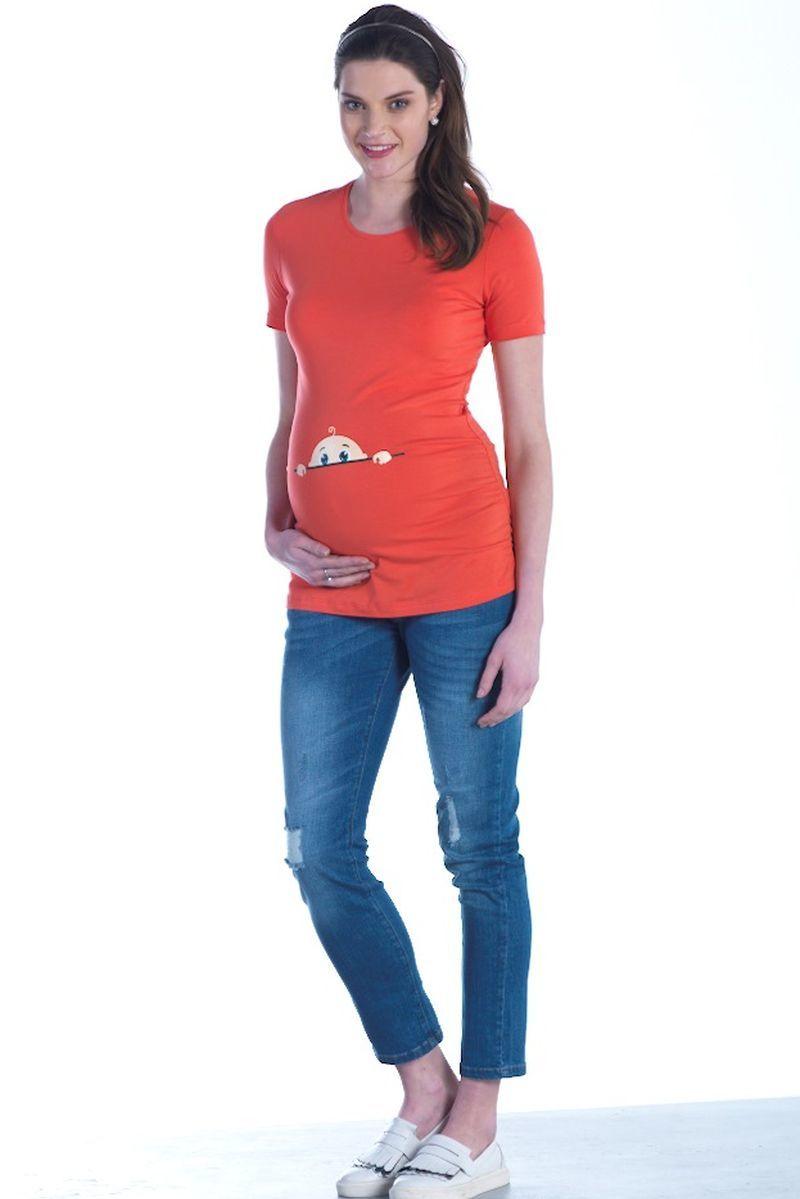 Футболка для беременных 01444 коралл