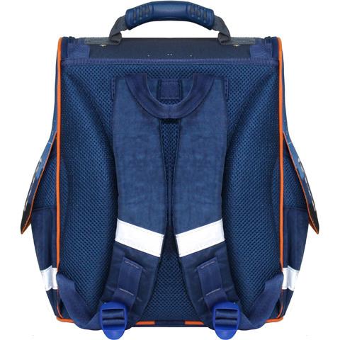 Рюкзак школьный каркасный с фонариками Bagland Успех 12 л. синий 429 (00551703)