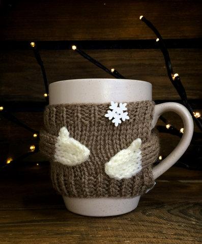 Чашка молочна у в'язаному светрику - какао