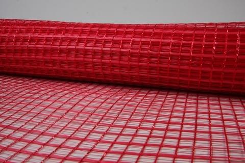 Акцент с люрексом 53 см х 6 м, цвет: красный