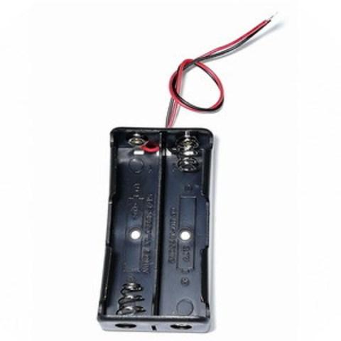 Батарейный отсек на 2 аккумулятора 18650 с проводами