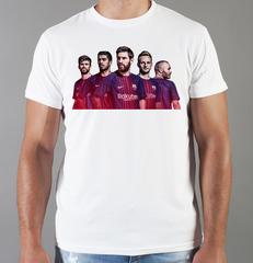 Футболка с принтом Лионель Месси (Lionel Messi) белая 002