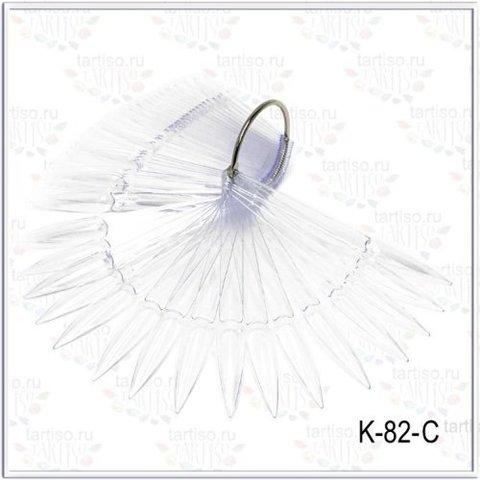 Палитра Стилеты прозрачные на кольце 50 шт. K-82-C