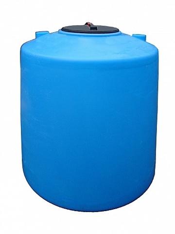 Емкость цилиндрическая 1600л с фланцем и крышкой с клапаном (Синий), (1080 х 1830 мм), [1600ВФК2]