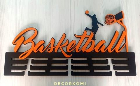 Медальница из дерева Баскетбол холдер для медалей