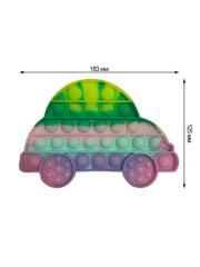 Поп Ит Игрушка антистресс Вечная пупырка Попит 18,3 х 12,5 см разноцветный автомобиль POP IT