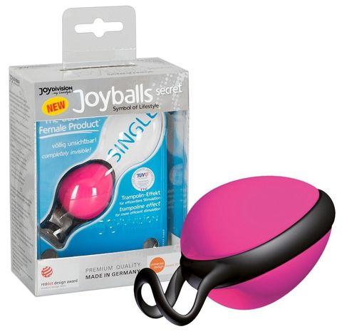Розовый вагинальный шарик со смещенным центром тяжести Joyballs Secret