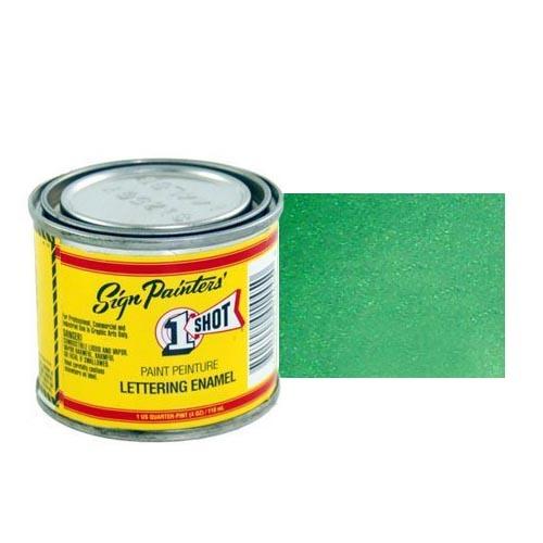 Пинстрайпинг (pinstriping) 943-P Эмаль для пинстрайпинга 1 Shot Перламутровый лиственно-зелёный (Process green), 236 мл ProcessgreenPerl.jpg