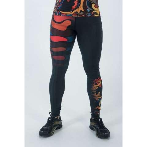 купить мужские тайтсы леггинсы orso yakuza oni для бега фитнеса единоборств занятий спортом